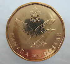 CANADA 2006 OLYMPIC LUCKY LOONIE UNCIRCULATED FROM MINT ROLL