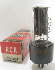 One 1969 RCA 5Y3GT Rectifier tube - TV7D tested @ 60/57, min: 40/40