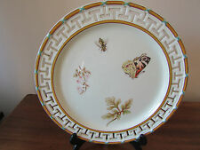 Wedgwood Botanical Hand Painted Porcelain Ribbon Plate c.1868