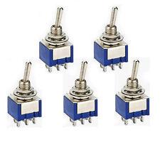 5 St. Miniatur Kippschalter Schalter Mini Schalter 2 x UM  EIN-EIN  (ein-aus)