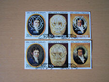 ST THOMAS PRINCE,1981 ROYAL WEDDING,BOTH OVERPRINTS,6 VALS,USED.