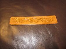 LARGE HORSE~LEATHER BOOKMARK~HANDMADE BY CRAFTSMAN~WHOA!