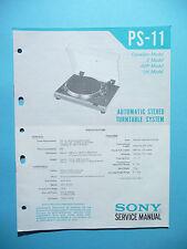 Service Manual-instrucciones para Sony ps-11, original