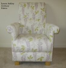 Laura Ashley Avebury Fabric Chair Amethyst Armchair Nursing Lilac Flowers Cream