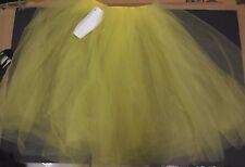 "NEW ROMANTIC LENGTH Buttercup Yellow Tulle Skirt 3 layers 26"" Small adult ballet"
