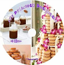 Delicious Doughnut Recipes cd Donut Jelly Glazed Filled Sugared Easy Cookbook