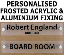 Personalised Office Door Sign/Plaque - Quality Frosted 5mm Acrylic + Stand Offs