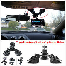 Car Dash Windshield Mount Triple Low Angle Suction Cup Mount Holder For Camera