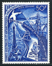 FSAT TAAF C17, MNH. Eiffel Tower,Antarctic research station,Ship,Albatross,1969