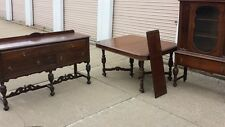 Antique dining room furniture.  Antique Buffet.  Antique china hutch and table