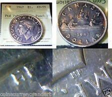 """1947 , Pointed 7 QUADRUPLED  """"HP"""" Canadian Dollar"""
