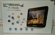 """LINSAY F-7XHD 7"""" Tablet PC Android 4gb *NEW IN SEALED BOX/PACKAGING*"""