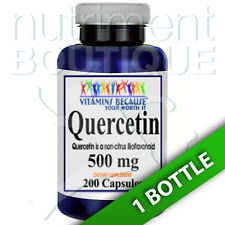 Quercetin 500mg 200 Capsules (Quercetin Dihydrate) by Vitamins Because