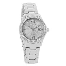 Citizen Eco-Drive Ladies Silhouette Crystal Stainless Steel Watch FE1140-86A