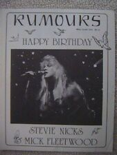 """Fleetwood Mac """"Rumours"""" Fan Club Magazine May / June 1988 28 Pages Mint"""