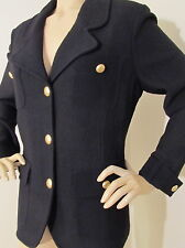 NEW ST JOHN KNIT 8 WOMENS SUIT JACKET BLAZER BLACK CAVIAR BOUCLE KNIT POCKETS