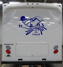Custom Made mountain moon Scene Decal for rv travel trailer camper LOOK