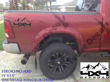 4X4 OFFROAD MOUNTAIN  TRUCK BED SIDE DECAL FOR CHEVY DODGE FORD NISSAN TOYOTA