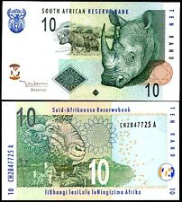 SOUTH AFRICA 10 RAND 2005 P 128 a RHINO UNC