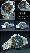 KANDAHAR LUXURY MEN'S CHRONOGRAPH CAVADINI WATCH TACHYMETER 10 BAR WATERPROOF