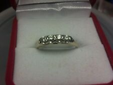 LADIES 14 KT YELLOW GOLD  .25 TCW  4 STONE DIAMOND RING  SIZE 9 - BEAUTIFUL RING