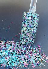 glitter mix nail art acrylic gel    ROCKIN LOLLY   Limited Edition