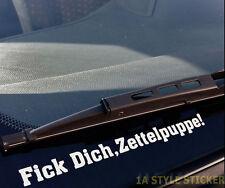 Fick Dich Zettelpuppe! Sticker Strafzettel Aufkleber Tickethalter rs Dub Shocker