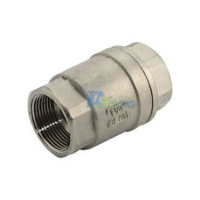 "1-1/4"" Check Valve WOG 1000 Spring Loaded In-line Stainless Steel SS316 CF8M NPT"