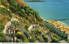 Postcard  Dorset    Bournemouth  West Cliff  the Zig Zag Path posted Hinde 3BM3
