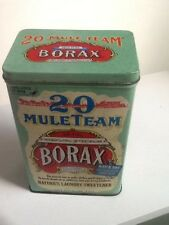 "Vintage 20 Mule Team Borax tin Container 5 lb 4oz size 6-1/2"" Tall"