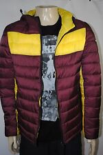 NEW MENS  Armani Jeans Reversible Color blocked Hooded Puffy Jacket size S(48)