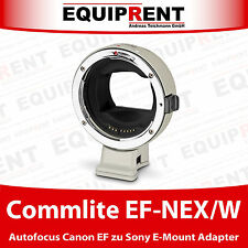Commlite COMIX cm-EF-NEX/W Canon EF/EF-S A Sony E-Mount Adattatore con AF (eqh82)