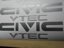 CIVIC VTEC Sticker/Decal  x2