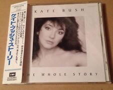 Kate Bush - The Whole Story Rare Japanese Cd Album + OBI Strip + Lyric Sheet!
