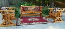 Southern Swings Handmade wood patio,porch,yard,deck,lawn,outdoor,furniture set