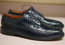 DUCKIE BROWN HORWEEN NAVY SHELL CORDOVAN WINGTIP DERBY BROGUE 11 D ALDEN BAGS
