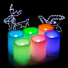 set of 6 LED Flameless Color Changing Votive Candles Tealight Party+Remote Timer