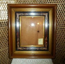 Antique Picture Frame Walnut Carved Deep Shadow Box Style Ornate Gold Gilt 1860s