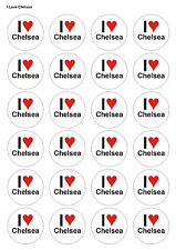 24X PRECUT CHELSEA FOOTBALL BIRTHDAY EDIBLE WAFER CUPCAKE CAKE TOPPERS 1376