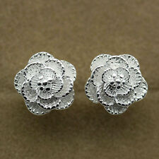 Hot Women Stylish Jewelry 925 Silver Cherry Flower Stud Earrings Gift