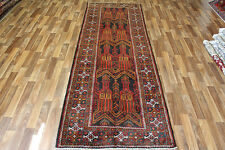TRADITIONAL ANTIQUE PERSIAN Wool  295 X 105 CM HANDMADE RUGS ORIENTAL RUG CARPET
