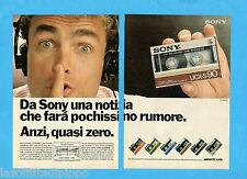 TOP985-PUBBLICITA'/ADVERTISING-1985- SONY AUDIOCASSETTE UCX-S90 -2 fogli