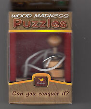 """WOOD MADNESS PUZZLES """"CAN YOU CONQUER IT? by CARDINAL INDUSTRIES #9983 Ages 8+"""