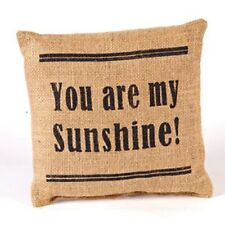 'You Are My Sunshine' Stenciled Burlap Accent Pillow With Filler