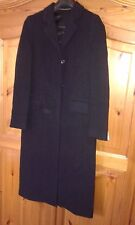 Womens Italian Size 18 wool Cashmere Coat new with tags £200 navy LARGE