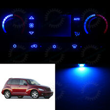 LED Set MANUAL Heater Control Blue LED Bulbs for 2001-2005 Chrysler PT Cruiser