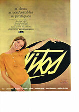 PUBLICITE  1963    VITOS    lingerie bas chaussettes soutien gorge