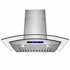 """New Europe Exhaust Stainless Steel Glass 30"""" Wall Range Hood Stove Vent w/ Remot"""
