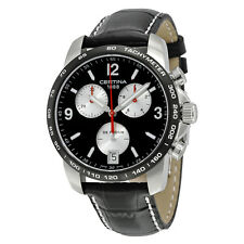 Certina DS Podium Chronograph Black Dial Black Leather Mens Watch C0014171605701