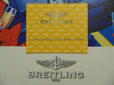 BREITLING PILOTS DIVERS WATCH INSTRUCTION MANUAL BOOK GUIDE BOOKLET DISTRIB LIST